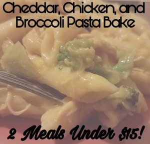 Brittany freakin Chavez recipe for cheddar broccoli chicken bake 2 meals under $15