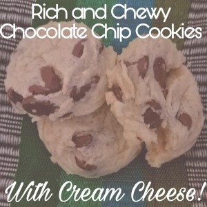 Rich and Chewy Chocolate Chip Cookies with Cream Cheese Brittany Freakin Chavez
